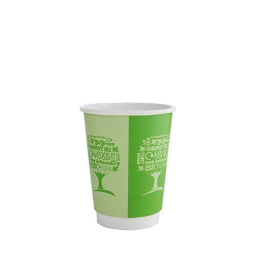 Vegware Green Tree  Double Wall Hot Cup 12oz