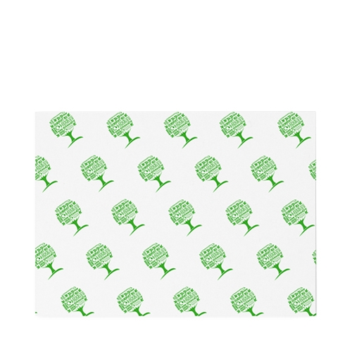 Vegware Green Tree Greaseproof Sheet 350 x 225mm White