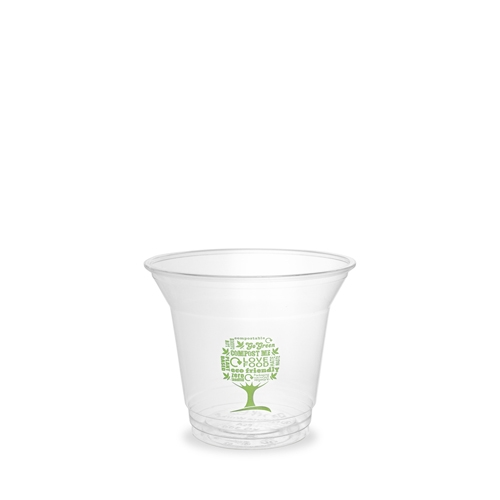 Vegware Green Tree Cold Cup 25cl Clear