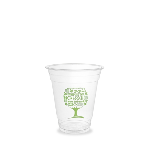 Vegware Green Tree Cold Cup 34cl Clear