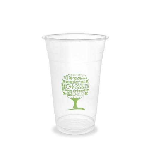 Vegware Green Tree Cold Cup 57cl Clear