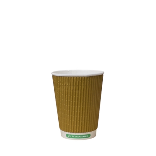 Biodegradable Triple Wall Hot Cup 8oz Kraft