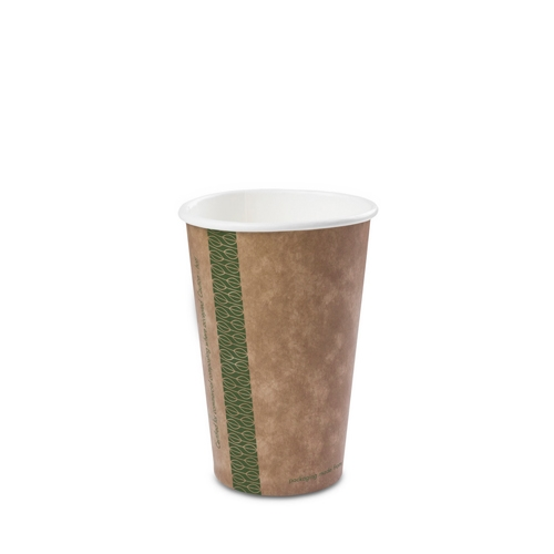Vegware Kraft Single Wall Hot Cup 16oz  Brown