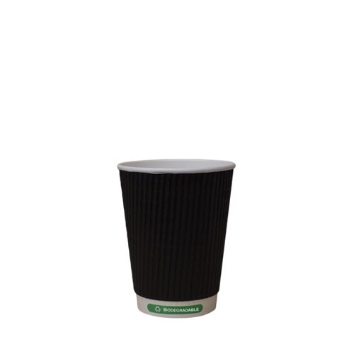 Biodegradable Triple Wall Hot Cup 8oz Black
