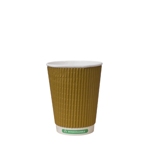 Biodegradable Triple Wall Hot Cup 12oz Kraft