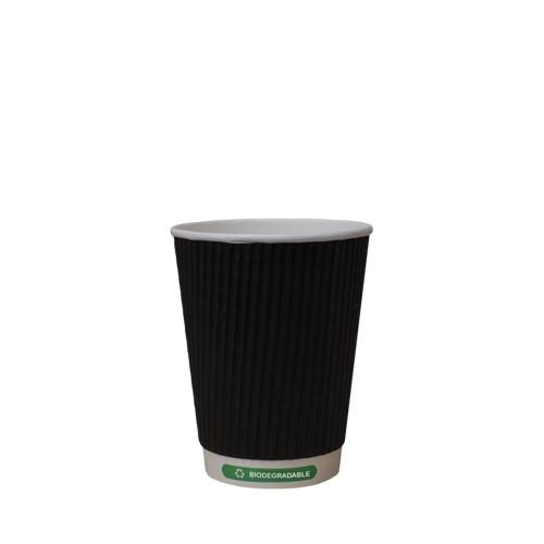 Biodegradable Triple Wall Hot Cup 12oz Black