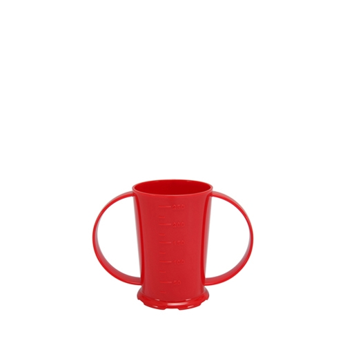 Harfield Polycarbonate 2 Handled Beaker 25cl Red