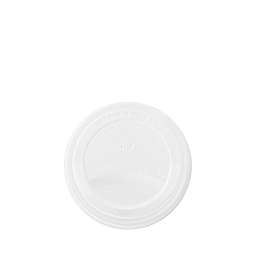 Vegware Compostable Domed Hot Cup Lid 10/20oz White