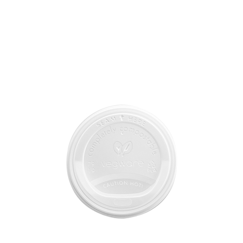 Vegware Compostable Domed Hot Cup Lid 8oz White