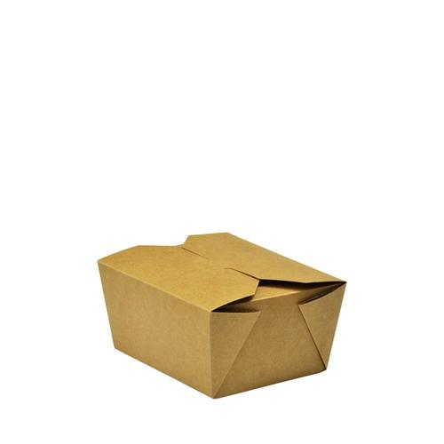 Vegware Leakproof  Food Carton 11cm x 9cm x 6.5cm Brown