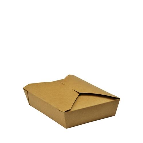 Vegware Leakproof Food Carton 19.5cm x 14cm x 5cm Brown