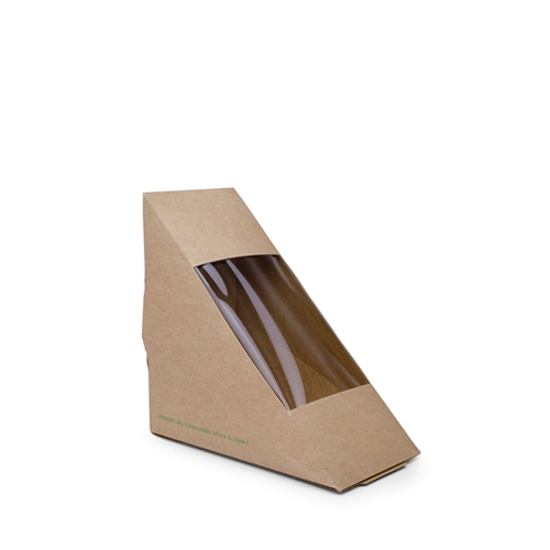 Vegware Kraft Sandwich Wedge Brown
