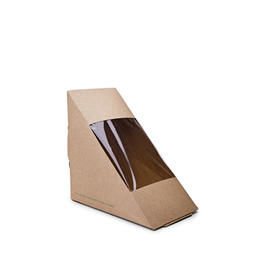 Vegware Kraft Deep Fill Sandwich Wedge Brown