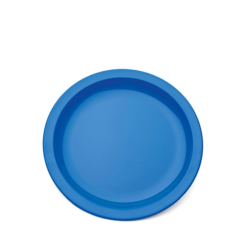 Harfield Polycarbonate Large Narrow Rimmed Plate 23cm Blue