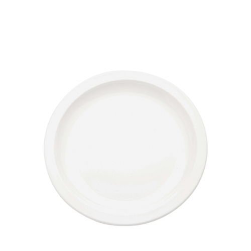 Harfield Polycarbonate Large Narrow Rimmed Plate 23cm White