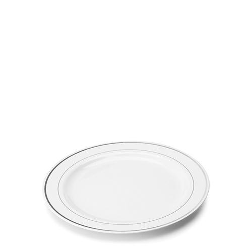 Sabert Mozaik  Silver Rim Disposable Plate 6