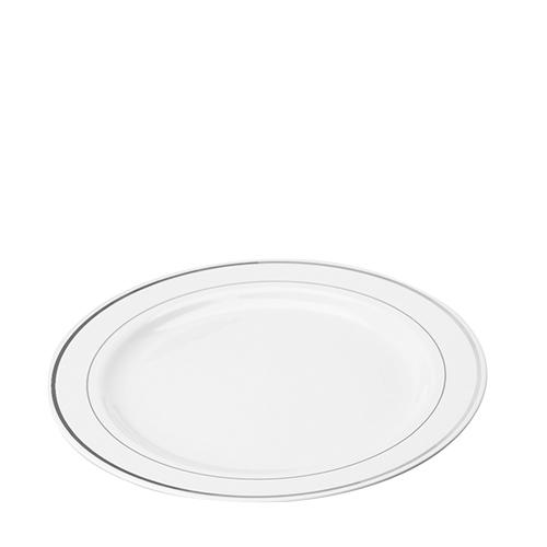 Sabert Mozaik Silver Rim Disposable Plate 9