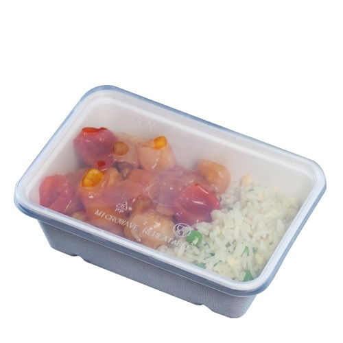 Lid for Microwaveable Bagasse Container 173 x 119 x 57mm