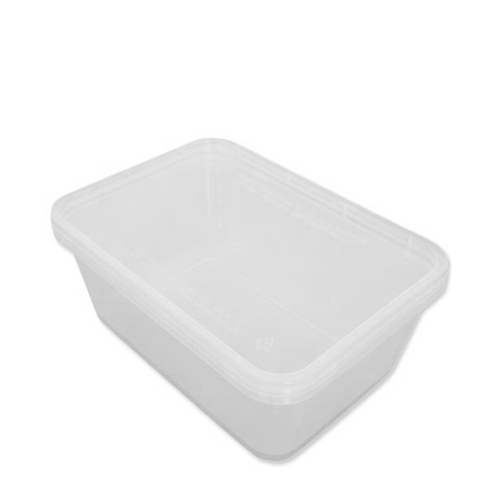 Microwavable  Container & Lid 650ml Clear