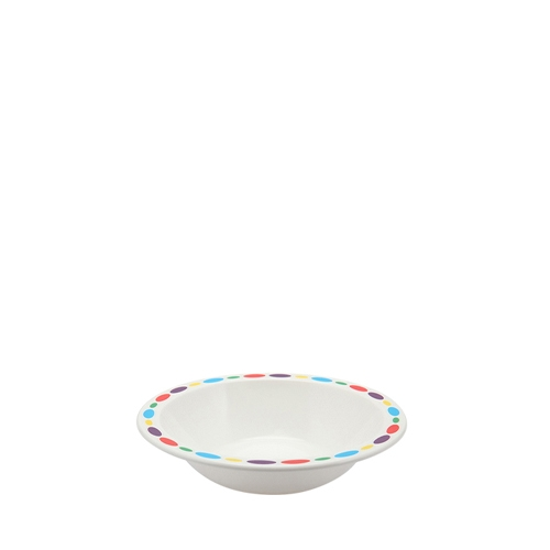 Harfield Polycarbonate  Duo Bowl with Pebbles Rim 17cm  White