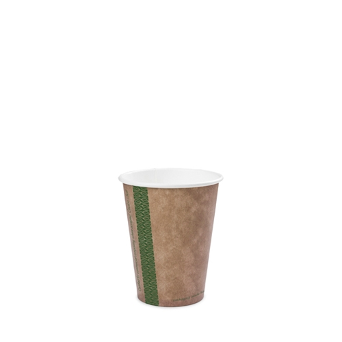 Vegware Kraft  Single Wall Hot Cup 8oz  Brown