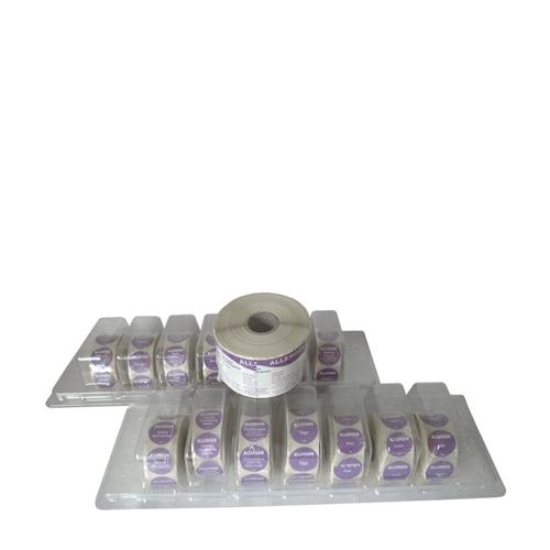 Food Allergen  Label Starter Kit 15 Roll Label Purple