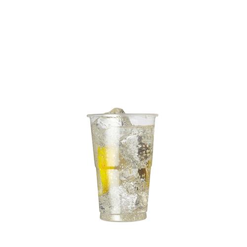 Plastico Flexy-Glass Polypropylene Half Pint to Brim 10oz CE Brim Clear