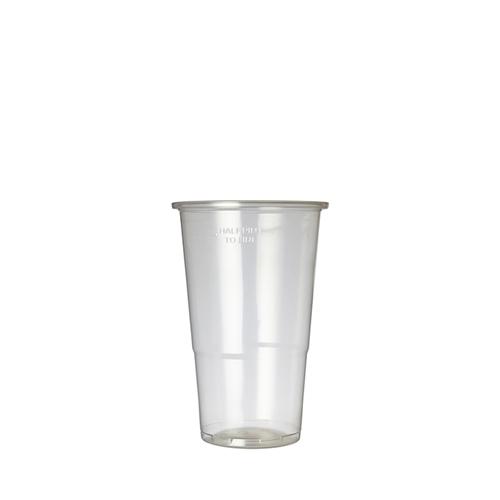 Plastico Flexy-Glass Polypropylene Half Pint to Line 12oz LCE 10oz  Clear