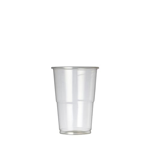Plastico Oxo-Bio Flexy-Glass Half Pint to Brim 10oz CE to Brim Clear
