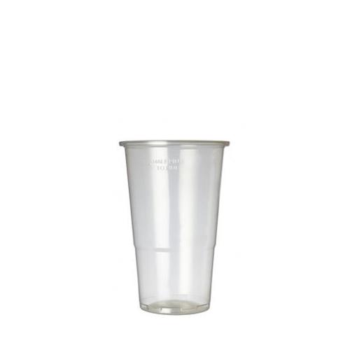 Plastico Oxo-Bio Flexy-Glass Half Pint to Line 12oz LCE 10oz Clear