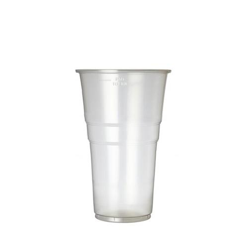 Plastico Oxo-Bio Flexy-Glass Pint to Brim 20oz CE Brim Clear