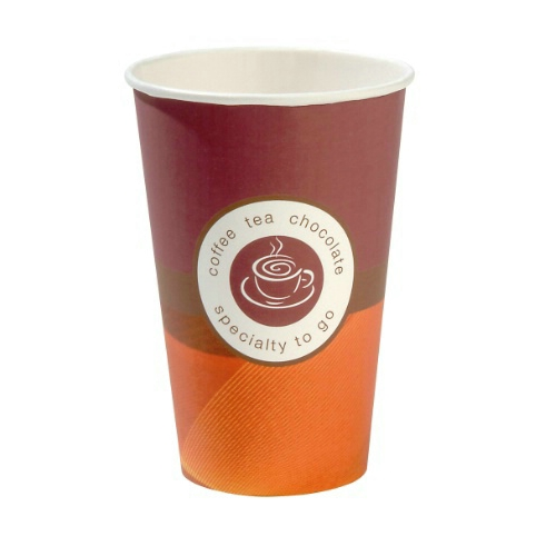 Huhtamaki Speciality Tall Paper Vending Cup 9oz (25cl) Orange/Red