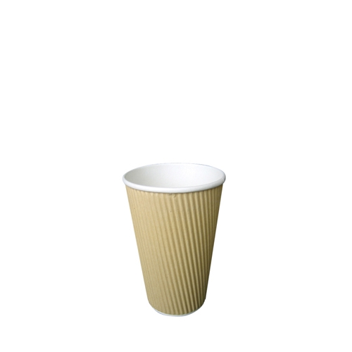 Ribbed Hot Cup 8oz  Kraft