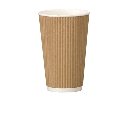 Ribbed Ripple Kraft Paper Cup