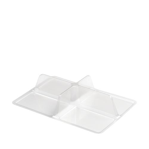 Faerch rPET50 Nibble Box Insert (4 Cavity) 19.2 x 13.7 x 4cm Clear