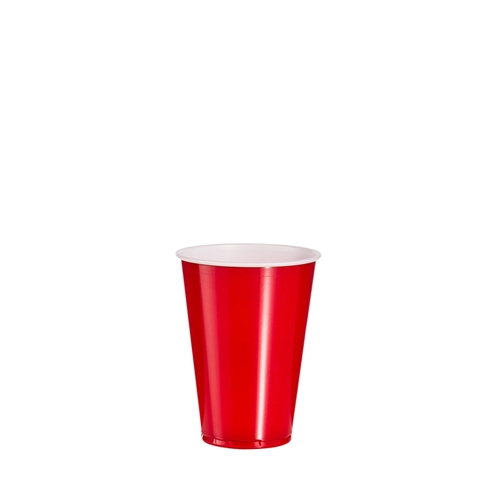 Solo Polystyrene Party Cup 10oz Red