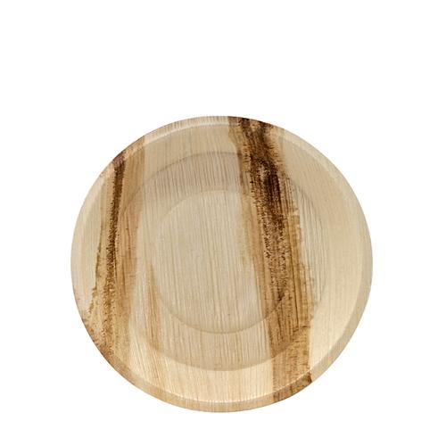 Cuadra Palm Leaf  Round Plate 18cm Natural