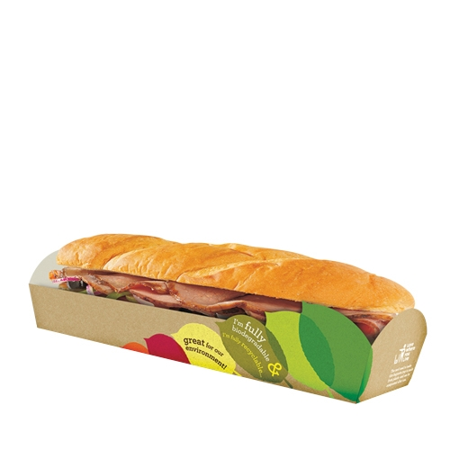 St Neots Packaging Seasons Eco Baguette Tray 260x72x35mm Brown