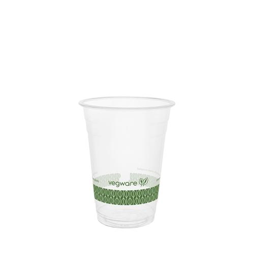 Vegware Standard Printed PLA Cold Cup 16oz Clear