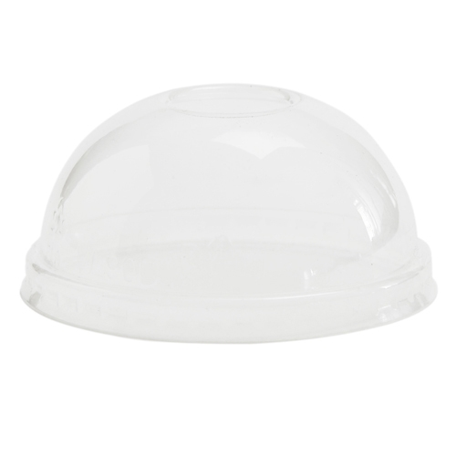 Vegware Compostable Domed PLA Lid to fit Soup Container 12-32oz  Clear