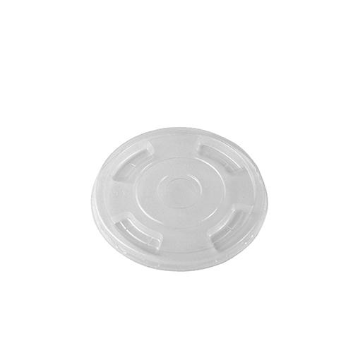 Vegware PLA Flat Lid With Straw 96mm Clear