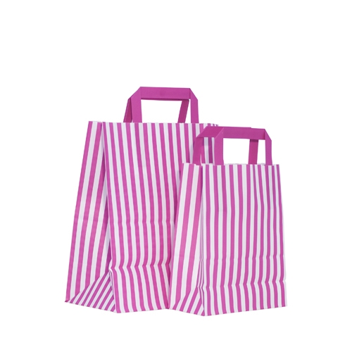 Candy Striped Paper Bag