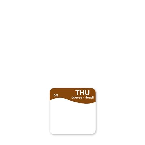 Dissolve-A-Way Label Thursday 2.5cm Brown