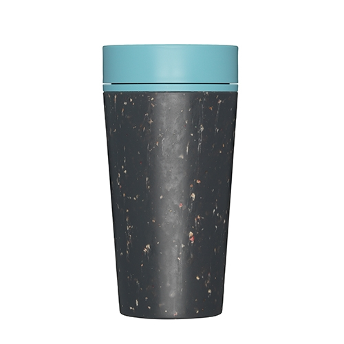 rCUP Premium Reusable Coffee Cup 34cl Black & Teal