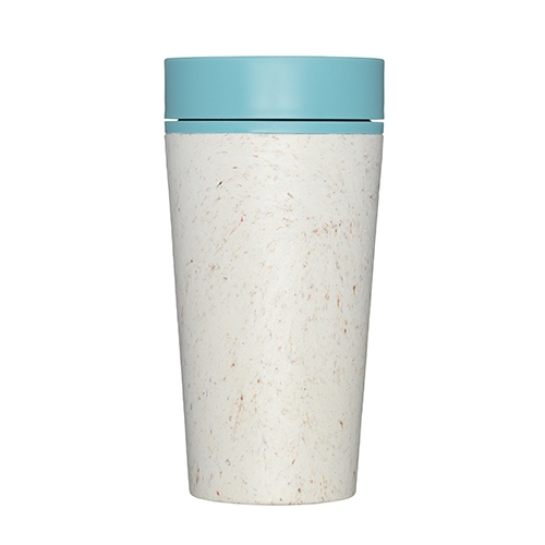rCUP Premium Reusable Coffee Cup 34cl Cream & Teal