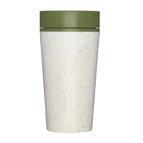 rCUP Premium Reusable Coffee Cup 34cl Cream & Green