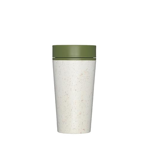 Premium Reusable Coffee Cup 34cl Cream & Green