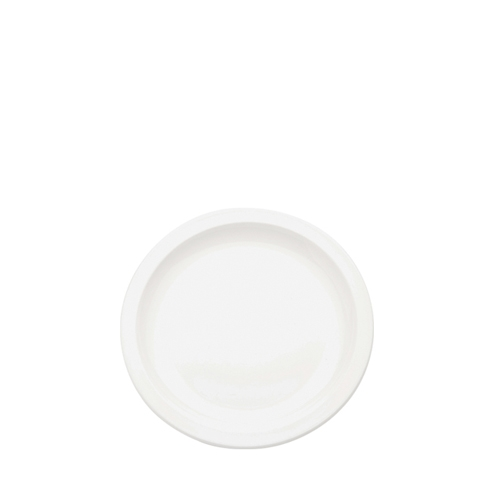 Harfield Polycarbonate Small Narrow Rimmed Plate 17cm White