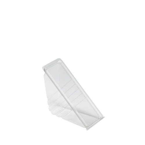 Faerch rPET Hinged Standard Fill Sandwich Wedge 16 x 5.5 x 8.5cm Clear