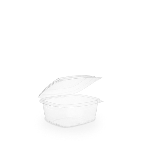 Hinged Lid PLA Deli Container 45.5cl Clear